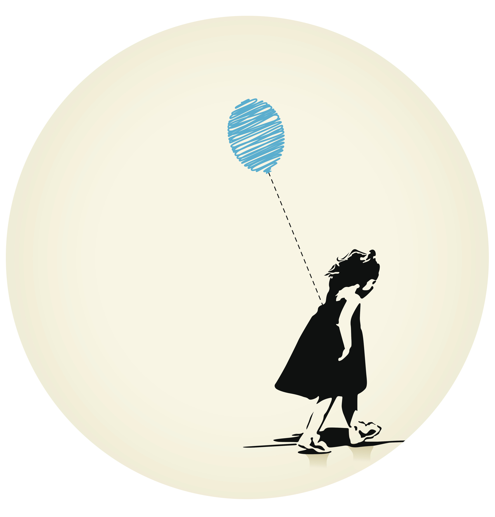 Girl carrying a balloon