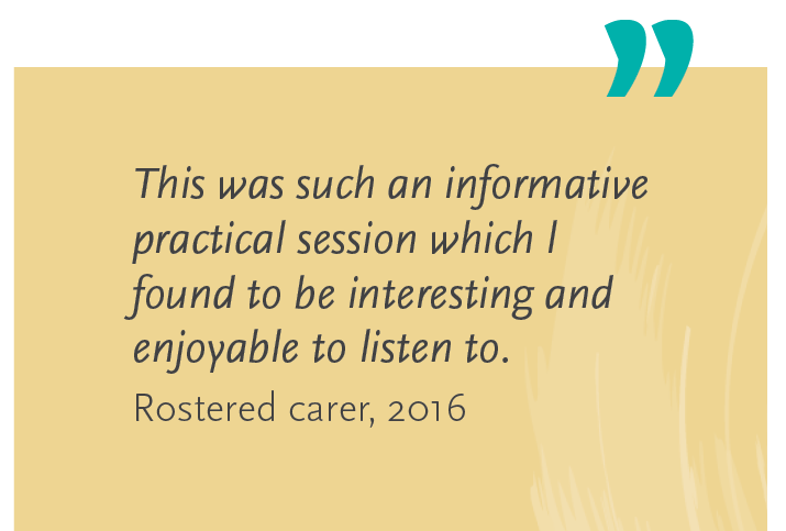 Quote from a rostered carer