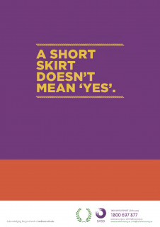 A short skirt doesn't mean yes - consent poster