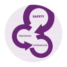 The three stages of trauma informed theerapy are safety, processing and integration